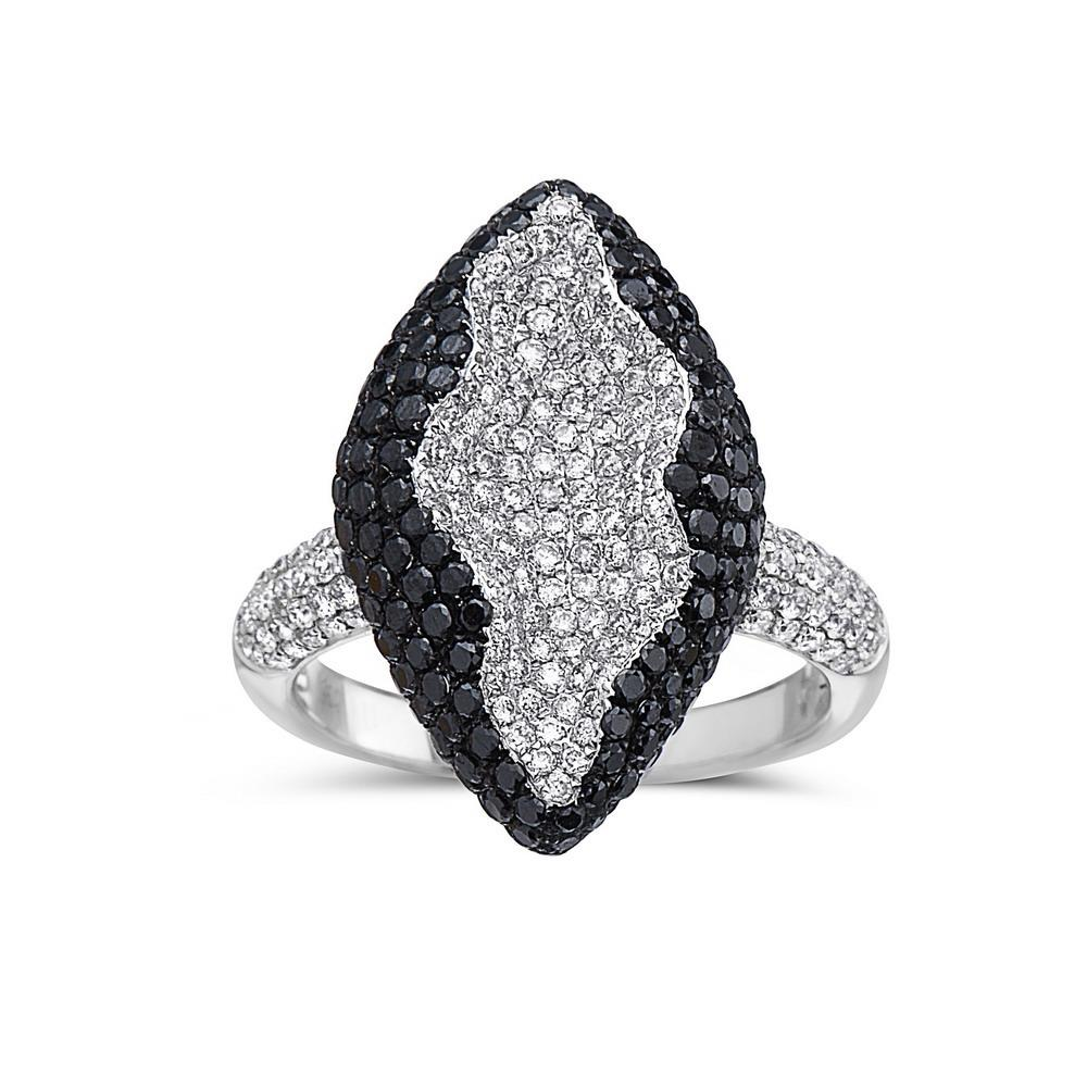 Ladies 18k White Gold With 2.63 CT Right Hand Ring