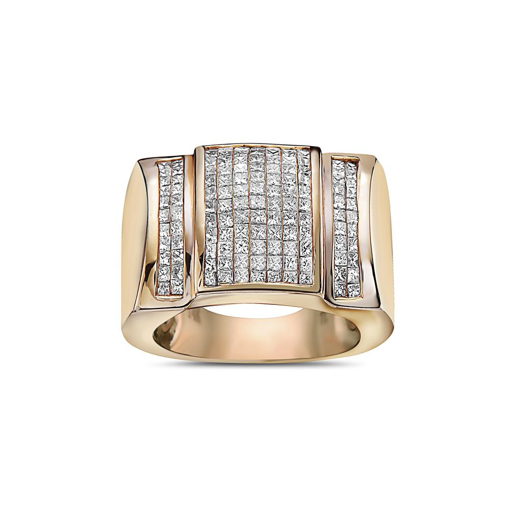 Men's 14K Yellow Gold Ring with 2.44 CT Diamonds