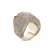 Load image into Gallery viewer, Men's 14K Rose and Yellow Gold Star Ring with 8.14 CT Diamonds