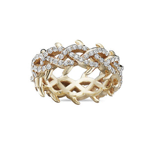 Men's 14K Yellow Gold Band with 2.75 CT Diamonds