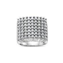Load image into Gallery viewer, Men's 10K White Gold Ring with 3.41 CT Diamonds