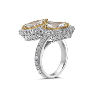 Ladies 18k White Gold With 5.29 CT Right Hand Ring