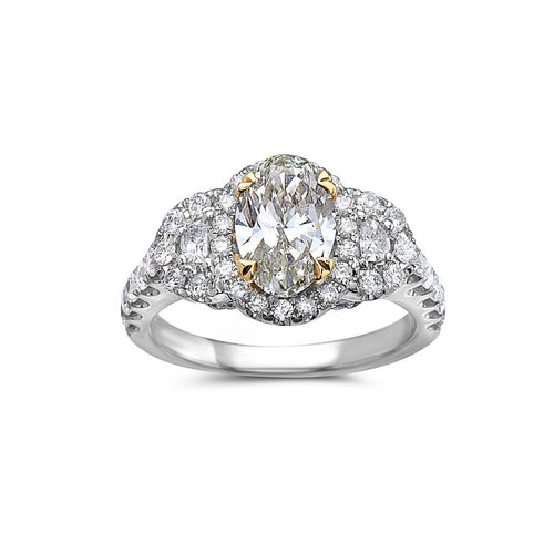 Ladies 18k White Gold With 2.70 CT Right Hand Ring