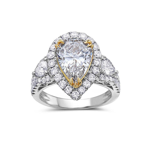 Ladies 18k White Gold With 3.94 CT Right Hand Ring
