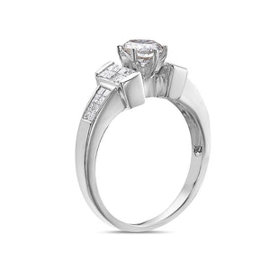 Ladies 18k White Gold With 1.45 CT Engagement Ring