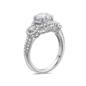 Ladies 18k White Gold Halo With 2.41 CT Engagement Ring