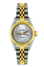 Load image into Gallery viewer, Rolex Datejust 26mm Yellow Gold and Stainless Steel Bracelet Lavender Dial w/ Diamond Lugs