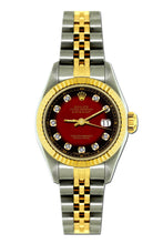 Load image into Gallery viewer, Rolex Datejust 26mm Yellow Gold and Stainless Steel Bracelet Red and Black Dial