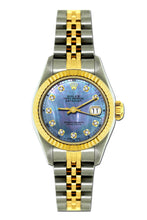 Load image into Gallery viewer, Rolex Datejust 26mm Yellow Gold and Stainless Steel Bracelet Blue Mother of Pearl Dial