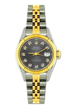 Load image into Gallery viewer, Rolex Datejust 26mm Yellow Gold and Stainless Steel Bracelet Borakay Gray Dial w/ Diamond Lugs