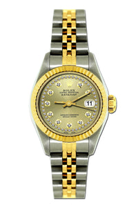 Rolex Datejust 26mm Yellow Gold and Stainless Steel Bracelet Gold Dial