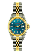 Load image into Gallery viewer, Rolex Datejust 26mm Yellow Gold and Stainless Steel Bracelet Sherpa Blue Dial
