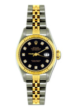 Load image into Gallery viewer, Rolex Datejust 26mm Yellow Gold and Stainless Steel Bracelet Black Dial