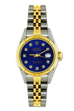 Load image into Gallery viewer, Rolex Datejust 26mm Yellow Gold and Stainless Steel Bracelet Sapphire Dial w/ Diamond Lugs