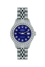 Load image into Gallery viewer, Rolex Datejust 26mm Stainless Steel Bracelet Midnight Blue Dial w/ Diamond Bezel