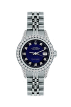 Load image into Gallery viewer, Rolex Datejust 26mm Stainless Steel Bracelet Midnight Blue and Black Dial w/ Diamond Bezel and Lugs