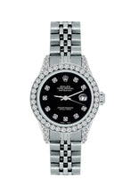 Load image into Gallery viewer, Rolex Datejust 26mm Stainless Steel Bracelet Black Russian Dial w/ Diamond Bezel and Lugs