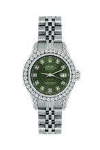 Load image into Gallery viewer, Rolex Datejust 26mm Stainless Steel Bracelet Black Forest Dial w/ Diamond Bezel and Lugs