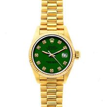 Load image into Gallery viewer, Rolex Datejust 26mm 18k Yellow Gold President Bracelet Myrtle Dial
