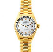Load image into Gallery viewer, Rolex Datejust 26mm 18k Yellow Gold President Bracelet Old Lace Dial
