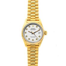 Load image into Gallery viewer, Rolex Datejust 26mm 18k Yellow Gold President Bracelet Whisper Dial