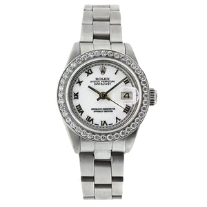Rolex Lady Datejust Stainless Steel Diamond Bezel 26MM 69160