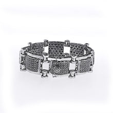 Load image into Gallery viewer, Unique Black Diamond Mens Braclet with 13.50 CT Of AAA Quality Stones
