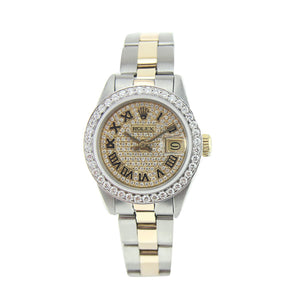 Vintage Rolex Oyster Perpetual Lady Datejust Two Tone 26MM 79173
