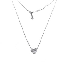 Load image into Gallery viewer, 18K White Gold Diamond Heart Necklace With 0.50CT