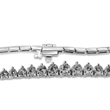 Load image into Gallery viewer, 14K White Gold Graduated Diamond Tennis Necklace 6.00CT