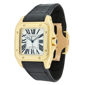 Cartier Santos 100 Large Yellow Gold W20071Y1