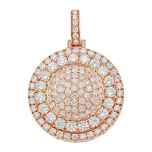 Load image into Gallery viewer, Rose Gold Diamond 3D Circle Pendant