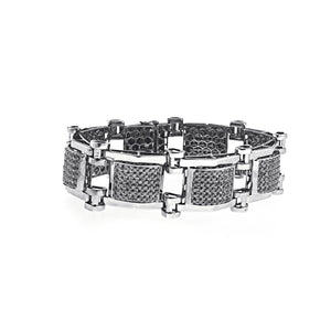 Unique Black Diamond Mens Braclet with 13.50 CT Of AAA Quality Stones