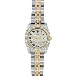 Rolex Datejust 36MM Stainless Steel and Yellow Gold with Diamonds 116203