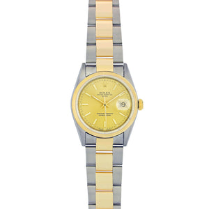 Rolex Date 36MM Stainless Steel & Yellow Gold 15003