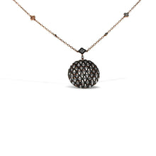 Load image into Gallery viewer, 14K Gold Necklace With Black and White Diamonds 4.45CT