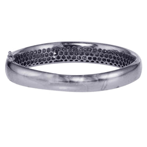 14K White Gold Diamond Bangle With 6 Rows Of 4.04 CT