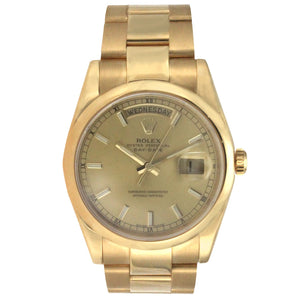 Rolex Oyster Perpetual Day Date Yellow Gold 36MM 118208