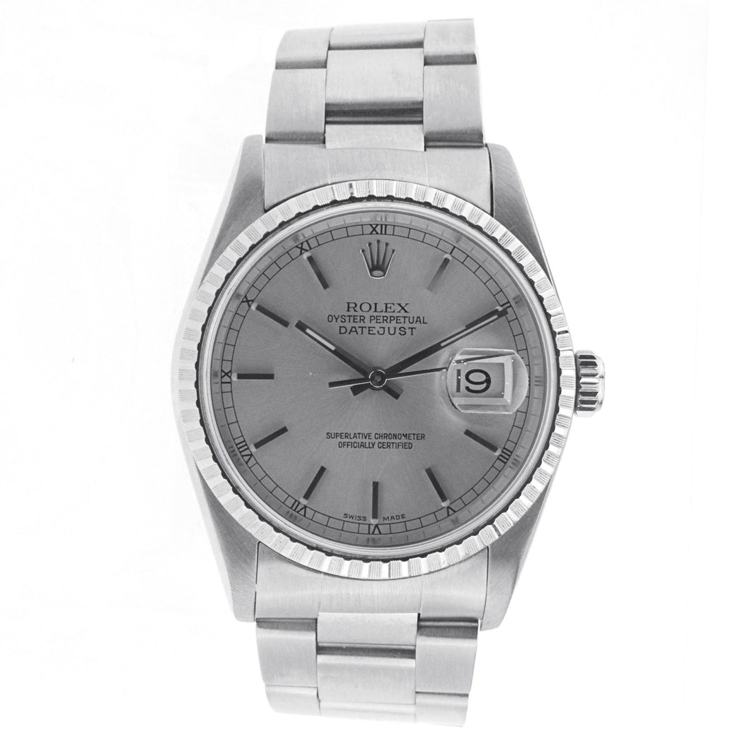 Rolex Oyster Perpetual Datejust Stainless Steel with Fluted Bezel 36MM 16200