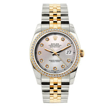 Load image into Gallery viewer, Rolex Datejust 36mm Yellow Gold and Stainless Steel Bracelet Light Lavender Dial w/ Diamond Bezel
