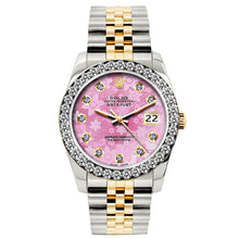 Load image into Gallery viewer, Rolex Datejust 26mm Yellow Gold and Stainless Steel Bracelet Pink Flower Dial w/ Diamond Bezel