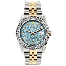 Load image into Gallery viewer, Rolex Datejust 26mm Yellow Gold and Stainless Steel Bracelet Blue Rolex Dial w/ Diamond Bezel