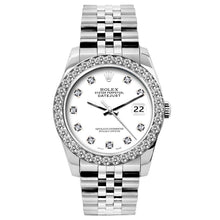 Load image into Gallery viewer, Rolex Datejust 26mm Stainless Steel Bracelet White Dial w/ Diamond Bezel