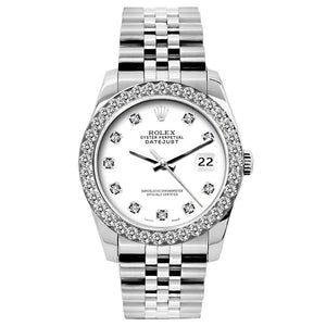Rolex Datejust 26mm Stainless Steel Bracelet White Dial w/ Diamond Bezel