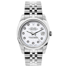 Load image into Gallery viewer, Rolex Datejust 26mm Stainless Steel Bracelet Rolex White  Dial