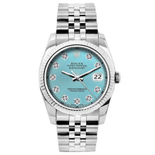 Load image into Gallery viewer, Rolex Datejust 26mm Stainless Steel Bracelet Blue Rays Dial