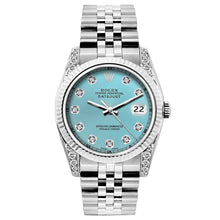 Load image into Gallery viewer, Rolex Datejust 26mm Stainless Steel Bracelet Blue Rays Dial w/ Diamond Lugs