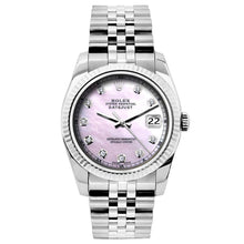 Load image into Gallery viewer, Rolex Datejust 26mm Stainless Steel Bracelet Pink Mother of Pearl Dial