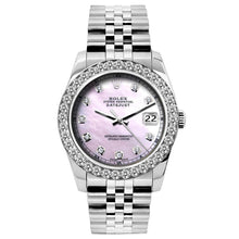 Load image into Gallery viewer, Rolex Datejust 26mm Stainless Steel Bracelet Pink Mother of Pearl Dial w/ Diamond Bezel