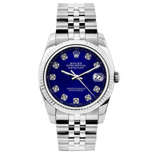 Load image into Gallery viewer, Rolex Datejust 26mm Stainless Steel Bracelet Blue Dial